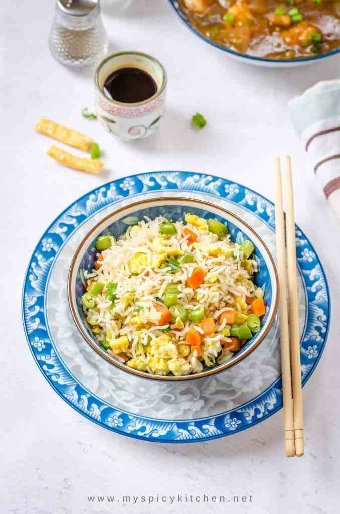 Indo Chinese Egg Fried Rice