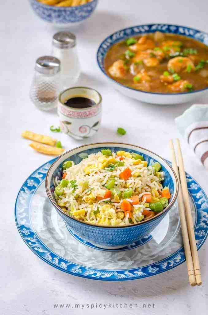 A flavorful bowl of egg fried rice