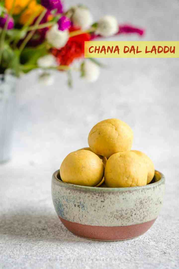 Senaga pappu laddu is aromatic and delicious no bake Indian dessert great for festivals and parties