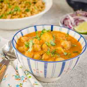 A bowl of South Indian Chana Masala