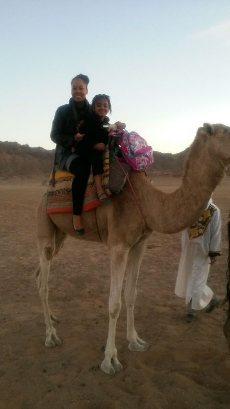 Our first camel ride