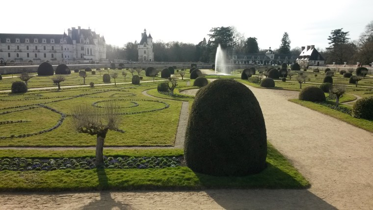 Garden of the Chenonceau Castle