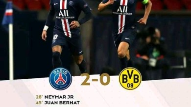 Photo of FT: Paris Saint-Germain 2-0 Borussia Dortmund, Neymar Goal Helps PSG Progress To Quarter Final On 3-2 Aggregate (Video Highlight)