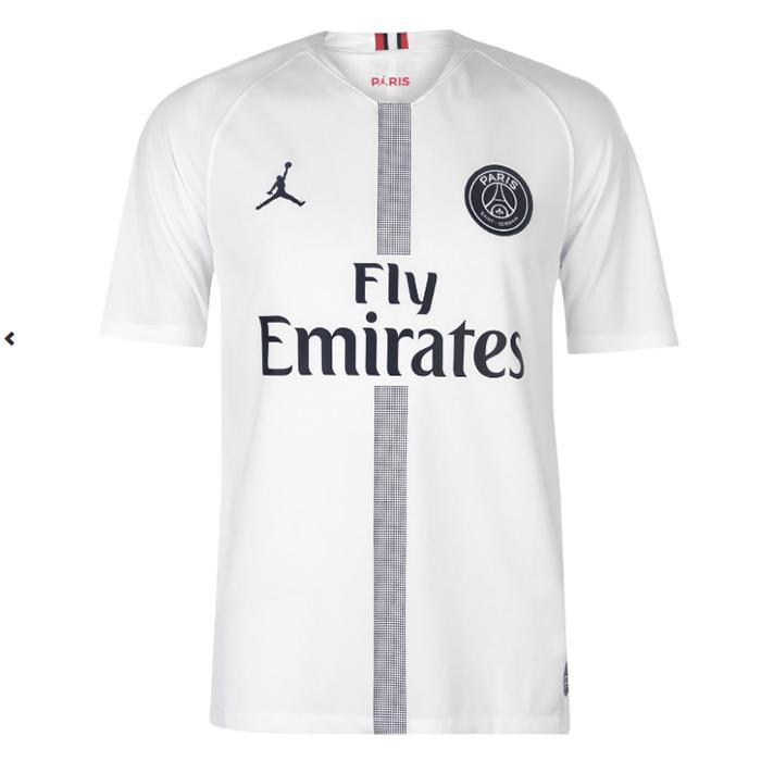 big sale 55336 25c3f PSG FC 2018/19 Jordan White Away Jersey