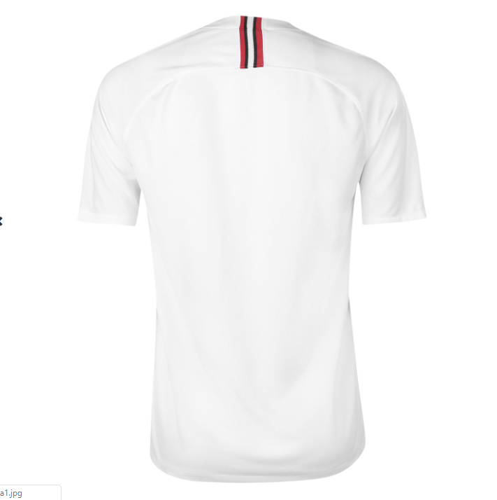 3a0daf5f4 PSG FC 2018 19 Jordan White Away UCL Jersey Front. PSG ...