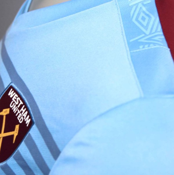 West Ham United 2019/20 Home Jersey shoulder