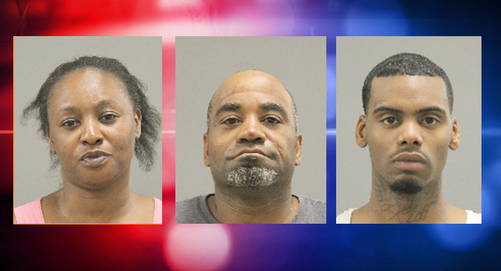Police arrest three people on various charges after traffic stop