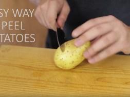 Πως να καθαρίσετε εύκολα πατάτες βραστές