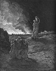 Lot and His Daughters Escape Sodom