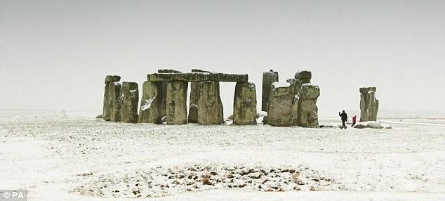 Stonehenge en invierno.