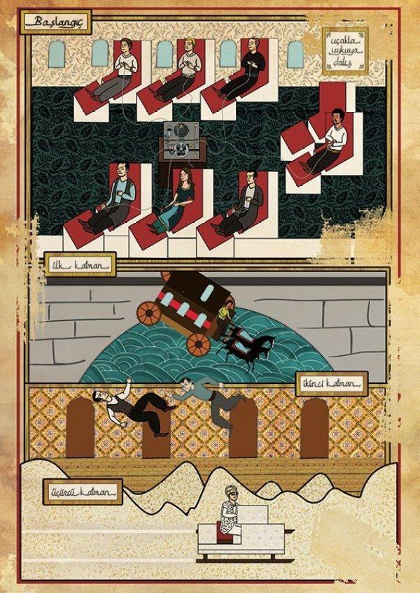 Turkish Artist Murat Palta Recreates Cult Movie Scenes As Ottoman Miniature Art inception