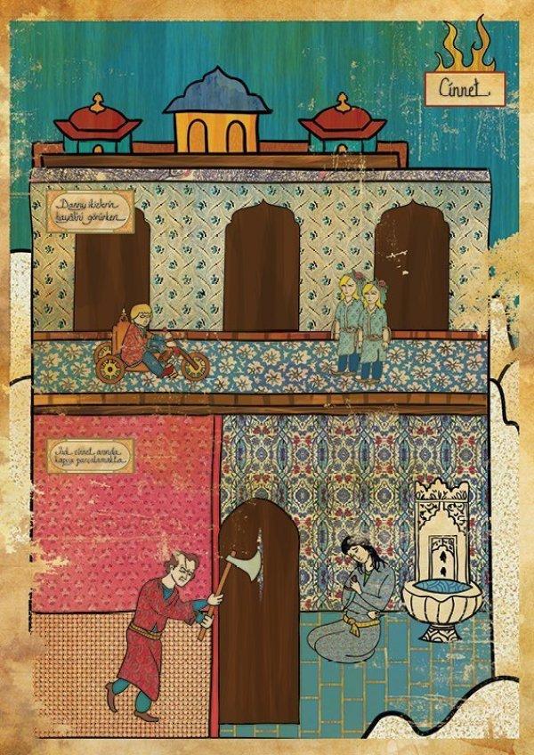 Turkish Artist Murat Palta Recreates Cult Movie Scenes As Ottoman Miniature Art shining