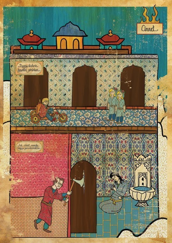 Turkish Artist Murat Palta Recreates Cult Movie Scenes As Ottoman Miniature Art shining