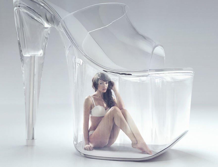 Trapped Under Glass Konrad Bak Surreal Photography