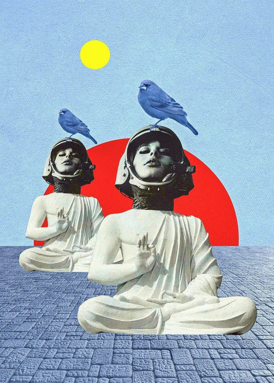Meditation For Dummies The Dreamy Collage Art And Photography Of Sergey Nehaev