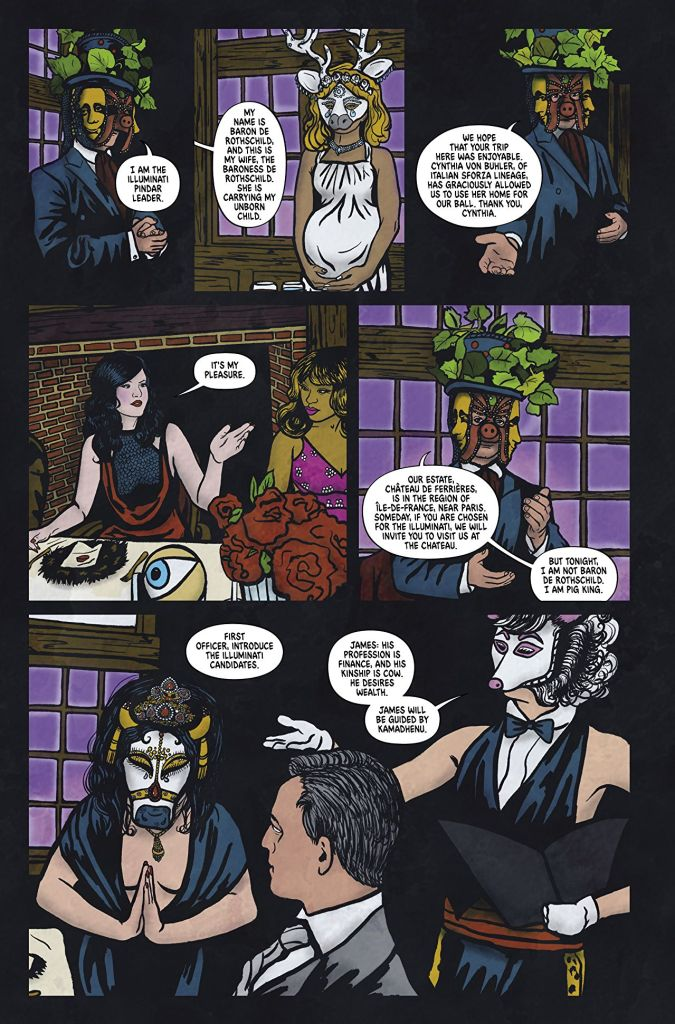 Graphic Novel The Illuminati Ball Is Eyes Wide Shut Crossed With The Island of Dr. Moreau 3