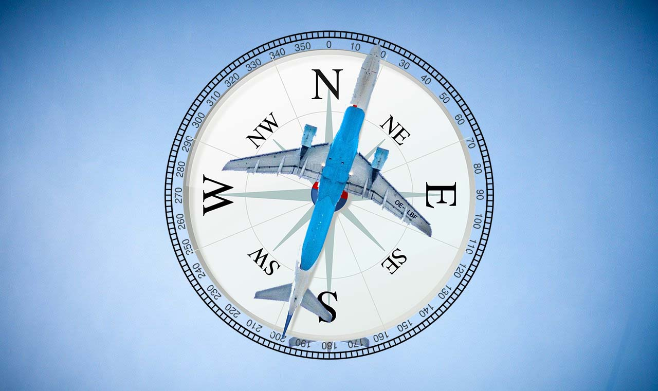 airplane compass