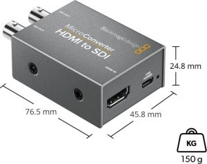 Micro HDMI to SDI Converter - Physical Specifications