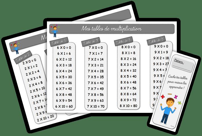 tables de multiplication et dominos des