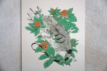 Art of Iguana in Geiger Tree