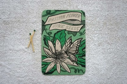 Passion flower seed art print