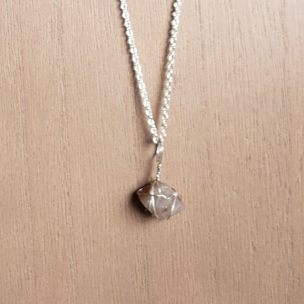 Handcrafted crystal stone necklace