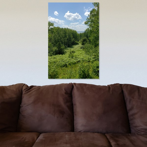 Summer View Canvas with background