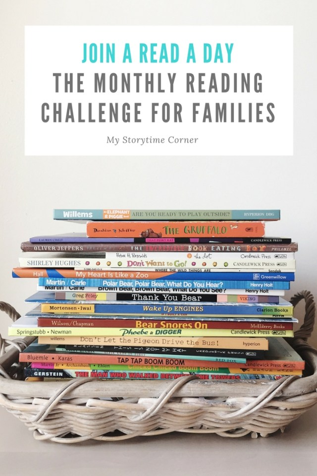 A Read a Day Monthly Reading Challenge for Families
