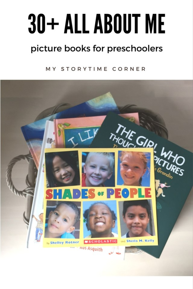 All about Me Bookstack for our September Reading Challenge for families on My Storytime Corner