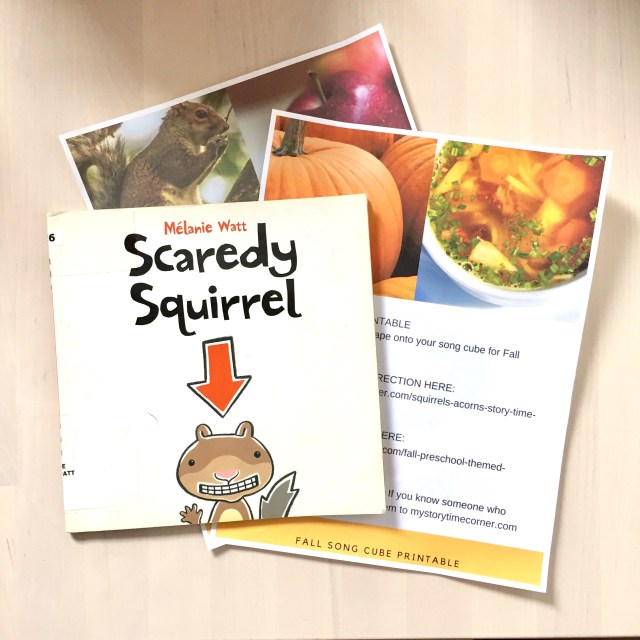 Acorns and Squirrels story time for toddlers and preschoolers from My Storytime Corner