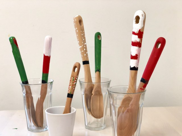 Kid Made Painted Spoons Teacher Gift
