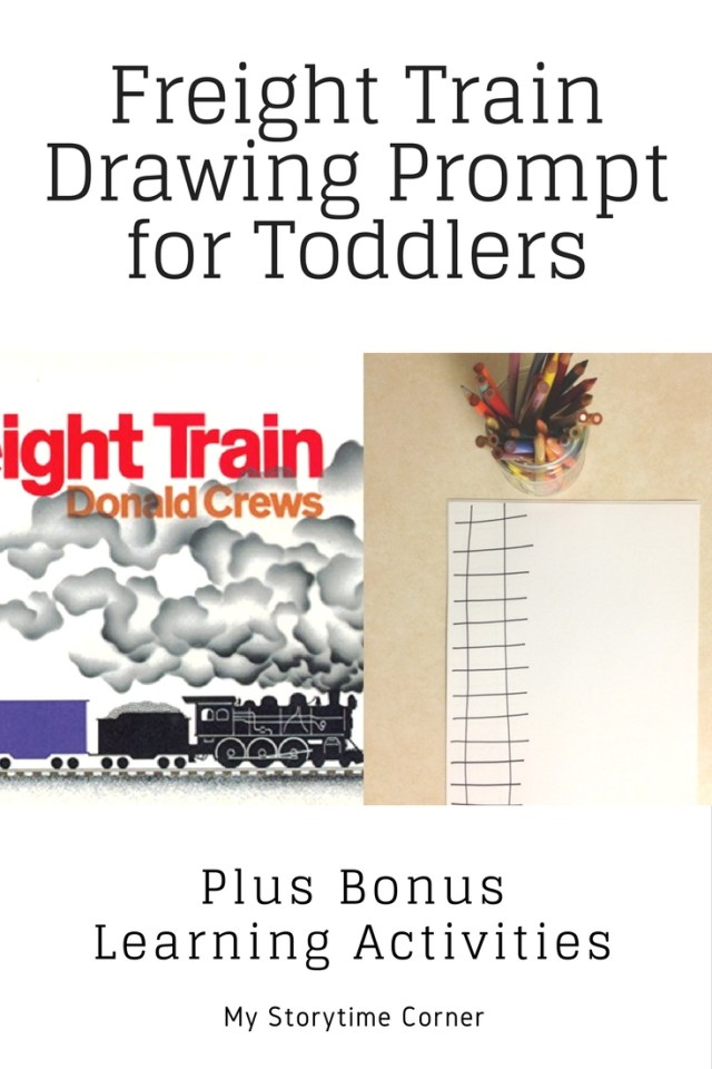 Freight Train by Donald Crews Inspired Drawing Prompt Creative Invitation for Toddlers and Preschoolers