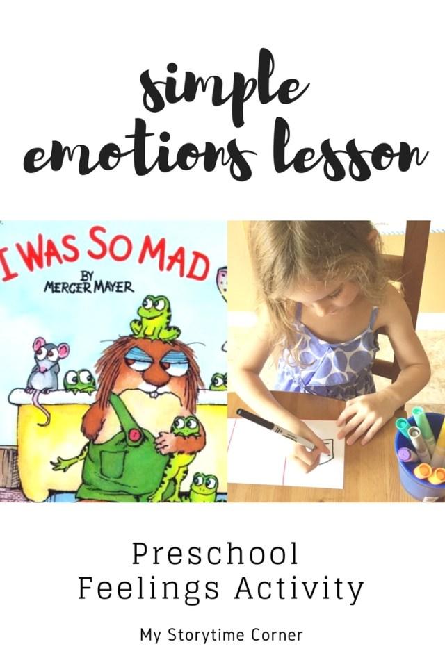 Simple Emotions Lesson. Preschool Feelings Activity