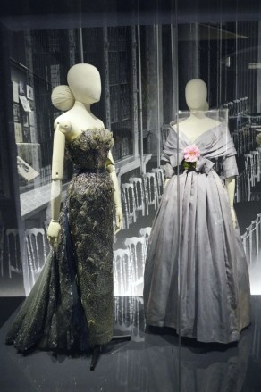vintage Christian Dior evening gowns