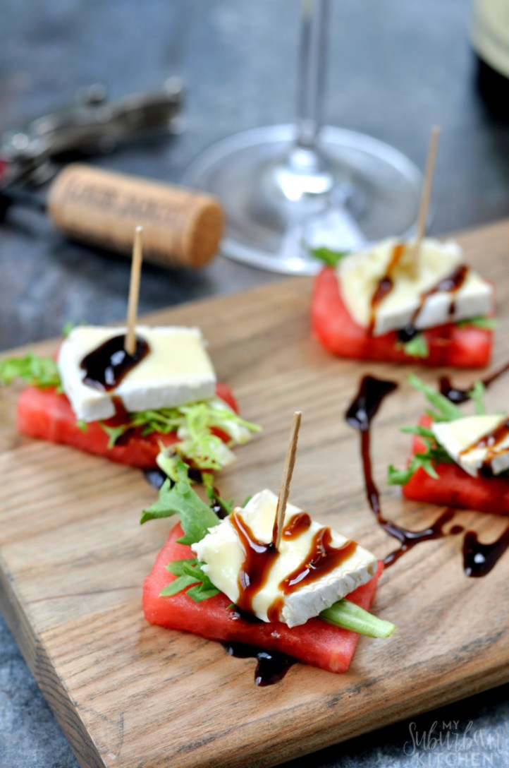 Watermelon Brie Bites