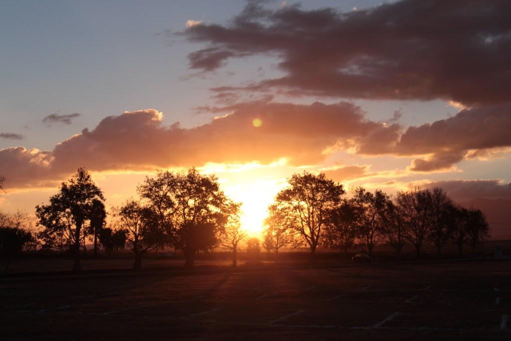 The Klein Karoo's signature red sunset.