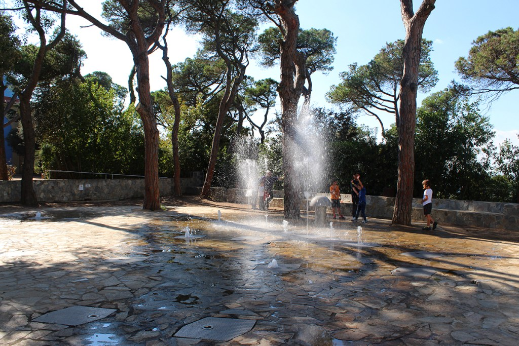 The water playground: Tibidabo Amusement Park.