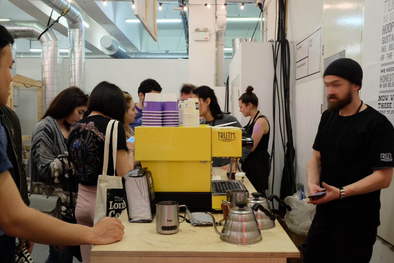 A cup of Truth Coffee at the London Coffee Festival 2017