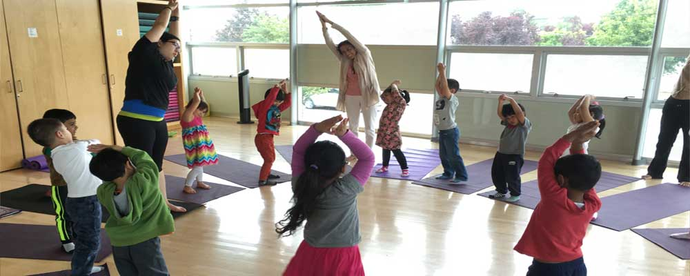 Kids Yoga in the Dance Studio