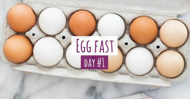 Five Days of Egg Fast Keto Day 1
