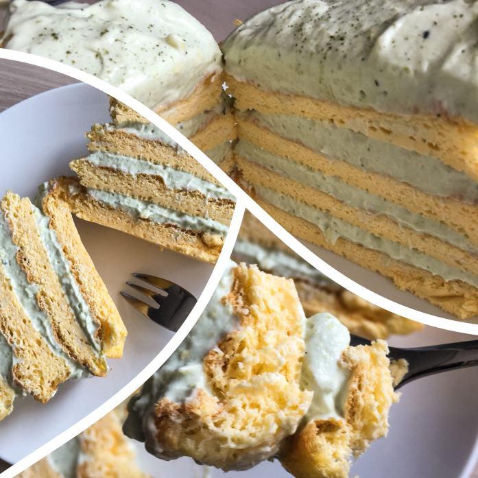 Egg Fast Day 5 Matcha Cloud Cake