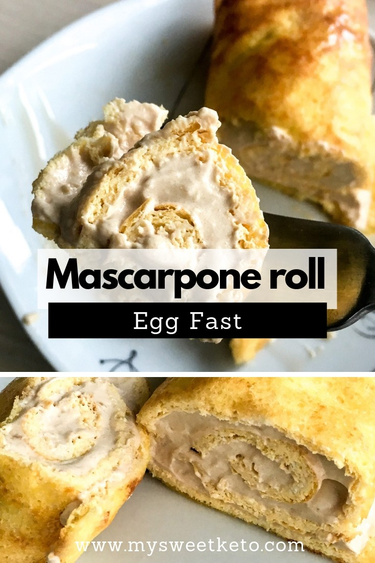 Egg Fast Mascarpone Roll Recipe. Egg Fast Mascarpone Roll Recipe. While egg fasting, I came up with this Egg Fast Mascarpone Roll. I warn you that this is a delicious Egg Fast treat. #keto #ketogenic #ketoeggfast #eggfast #recipe