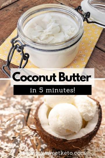 Coconut Butter Recipe in 5 minutes. Coconut butter deserves a special place, for it is a special nut. The quality of its fat is very likely among the highest. #keto #ketodiet #ketogenic #coconutbutter #homemade