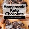 Homemade Keto Chocolate Recipe. By homemade keto chocolate I mean homemade, organic, dark, sugar-free chocolate. This is sosimple. And horriblydelicious. Enjoy! #keto #homemadechocolate #chocolate #recipe #lowcarb #ketodessert