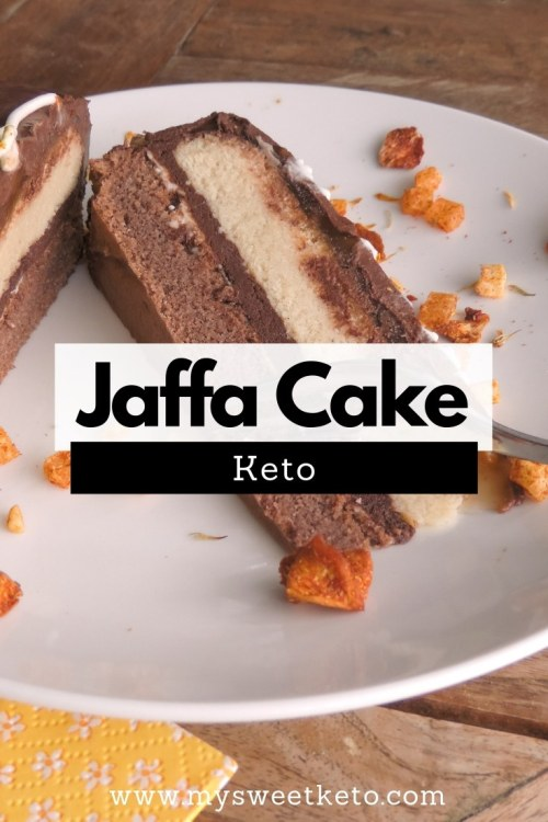 Keto Jaffa Cake Recipe. This cake is THE Keto Jaffa Cake. 'Nuff said. Enjoy the recipe. There's really no words to describe how oh so yummy it is. #keto #lowcarb #recipe #jaffacake #ketodessert