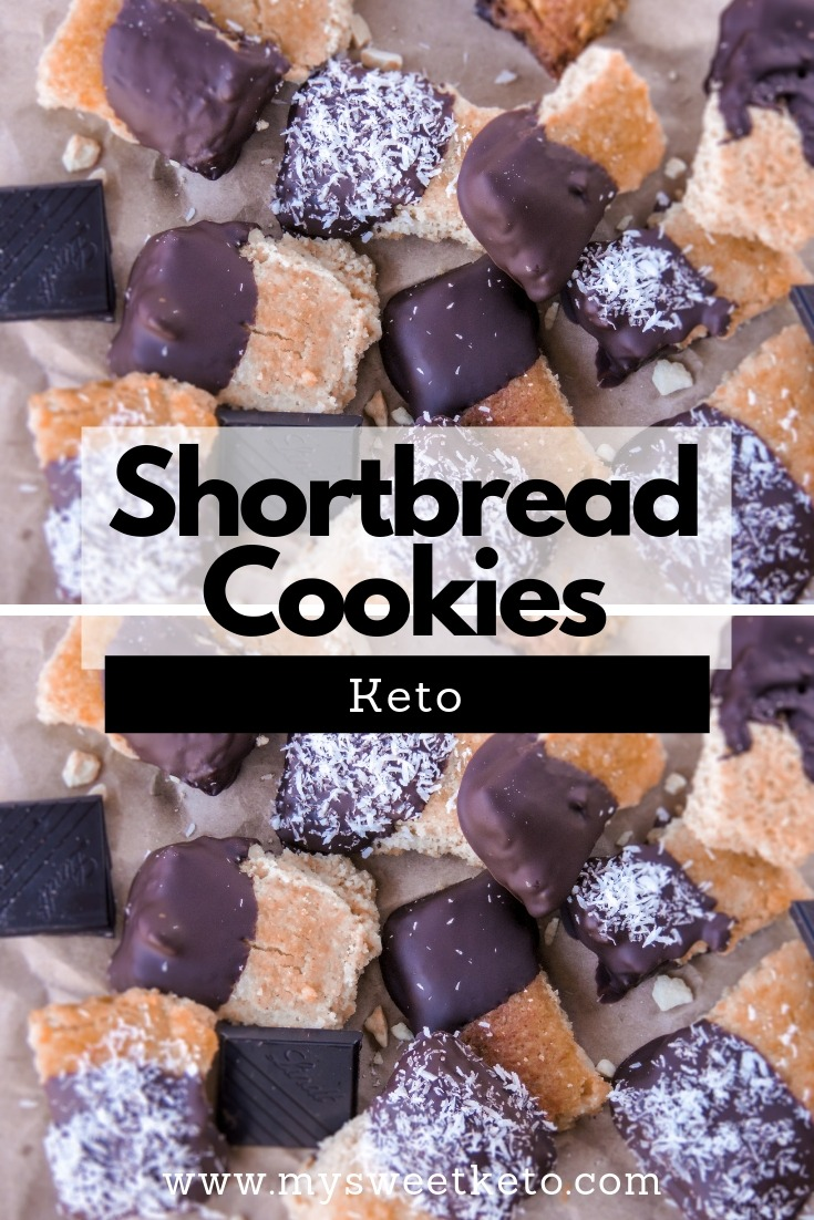 Shortbread cookies are tea's best friends. Take this recipe and bake yourself a nice batch of the simplest keto shortbread cookies. #keto #ketodiet #lowcarb #dessert #recipe