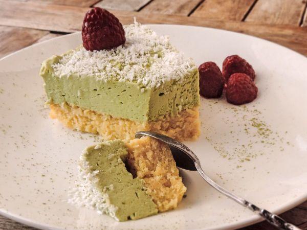 Keto Coconut Matcha Cake