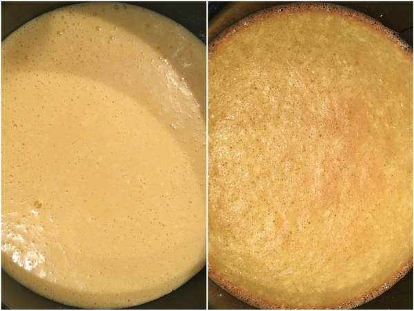 "Pour the batter into the prepared <a href=""http://amzn.to/2fFgdwh"" target=""_blank"">pan</a>. 