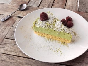 Keto matcha and coconut cake recipe
