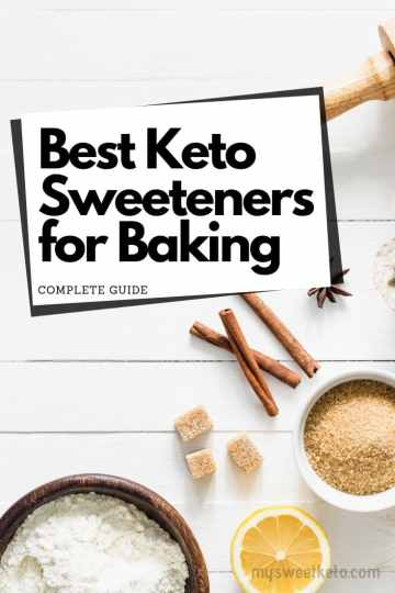 Keto lifestyle means cutting out sugar completely. Let us walk you through the most used keto sweeteners for baking keto desserts. #ketogenic